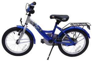 Kinderfahrrad 160 Zoll bike star von der Seite